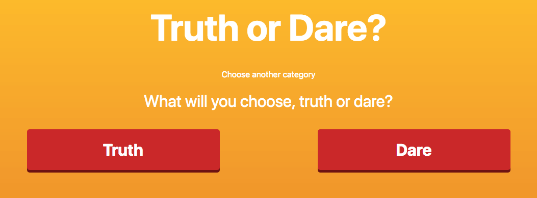 Play truth or dare questions online